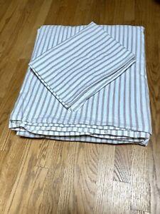 LL Bean Premium Supima Cotton Flannel Queen Duvet Set 2 Standard pillow Shams