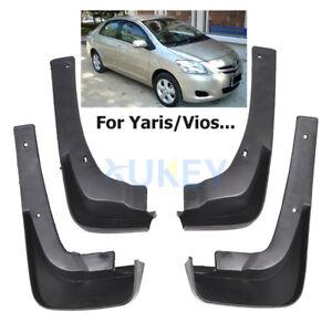 Fit For Toyota Yaris  07- 13 4PCS Mud Flaps Splash Guards mudguards Fenders