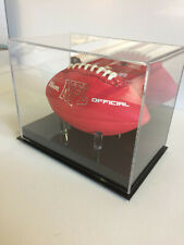MINI football MIRROR BACK display memorabilia case with solid base with pegs