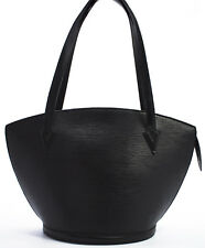 Louis Vuitton EPI Saint Jacques GM Schultertasche Bag Shopper Shopping SCHWARZ Q