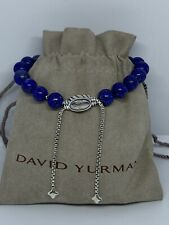 DAVID YURMAN Spiritual Bead Bracelet Sterling Silver and Lapis Lazuli 8mm