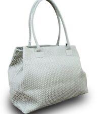 Made in italy señora bandolera Shopper Bag cuero trenzada vintage naturaleza