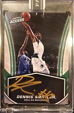Dennis Smith Jr Instant Access Gold On Card Auto! /10 Auto #1 Jersey Rookie RC