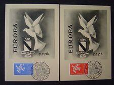 2 Cartes Maximum de 1961 : EUROPA