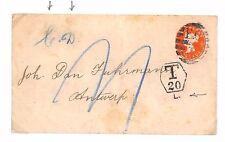 Ap148 GB BELGIUM DIPLOMATIC MAIL 1894 London*Corps Diplomatique* Underpaid Cover
