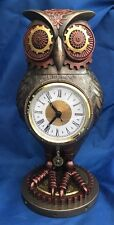Steampunk Tick Toot Desk Clock Owl Ornament Nemesis Now New Boxed