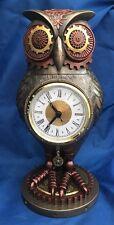 Steampunk Tick Toot Bureau Horloge Hibou Ornement NEMESIS NOW New BOXED