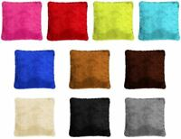 """LUXURY FAUX FUR Cushion covers Size:18""""x18"""" filled or unfilled"""