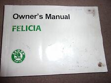 SKODA FELICIA OWNERS USERS INSTRUCTION BOOK HANDBOOK MANUAL 1994