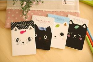 Cute Black White Kitten Cats Notebooks Small Notepads Notes Pad Pocket Memo Pads