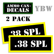 .38 SPECIAL Ammo Label Decals Box Stickers decals - 2 Pack BLYW