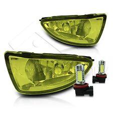 04-05 Civic 2/4Dr Fog Lights w/Wiring Kit & High Power COB LED Bulbs - Yellow