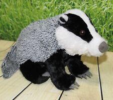 "Wild Republic EUROPEAN BADGER 12"" Plush Cuddlekins Floppy Stuffed Animal NEW"