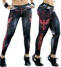 DARK PHOENIX Womens Athletic Fitness Leggings Yoga Workout Gym Apparel Gear Pink