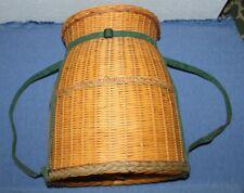 Vintage   Woven   Wicker   Barrel    Basket    Pack   19 x 16