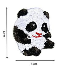 Cute Panda High Detail Quality Iron Patch Badge Patches Motif Embroirdered 339