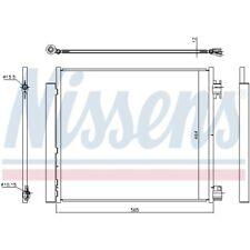 1 Kondensator, Klimaanlage NISSENS 940546 passend für NISSAN RENAULT
