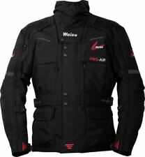 NEW WEISE DAKAR 4 SEASON ADVENTURE ARMOURED TEXTILE JACKET BLACK SIZE MEDIUM