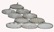 Lot of 10 pcs White Handpainted Ceramic Door Knobs Kitchen Cabinet Drawer Pull
