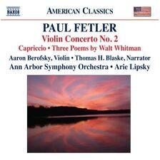 Music Of Paul Fetler Berofsky Lipsky Ann Arbor CD
