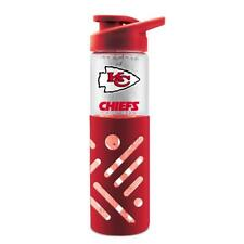 KANSAS CITY CHIEFS 23oz GLASS WATER BOTTLE WITH SILICONE SLEEVE FROM DUCKHOUSE