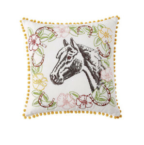 """The Pioneer Woman Horse Cameo Decorative Throw Pillow, 16"""" x 16"""""""