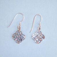 Celtic Knot NEW Earrings STERLING SILVER .925 Designer Inspired Wires USA Seller