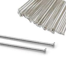 100 Silber 4cm Kettelstifte Nadel Nietstifte Zubehör Kopfstifte  M189