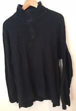 Men's Next Size M Sweatshirt Navy Blue 1/4 Zip <SW3010