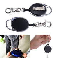 Badge Reel Retractable Extendable Ski Pass Id Card Holder Key Chain Key Ring