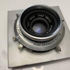 Vintage Kodak Wide Field Ektar 135mm f:6.3 Flash Supermatic Shutter Lens Board