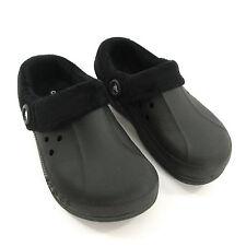 Crocs Clogs Unisex Mens 7 Womens 9 Black Blitzen Polar Lined Fleece Winter Shoes