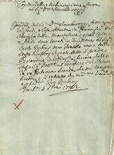 Cernusco Naviglio della Martesana Antico Manoscritto 1782 Vendita di Case