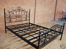 Antique American Country Style Iron Bed Ends Frame Castings Double Black