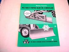 Massey Ferguson 21 Multi-Purpose Blade & #3 Snow Blades Brochure