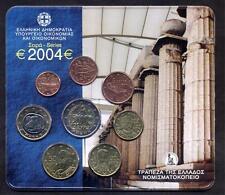 GREECE GRECIA Official Euro Set 2004 FDC