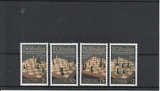 Gibraltar 2012 MNH International Chess Festival 10th Anniv 4v Set Nigel Short