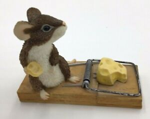 Munro 1999 After the Party Figurine Mouse Cheesenaper Limited Edition Trap