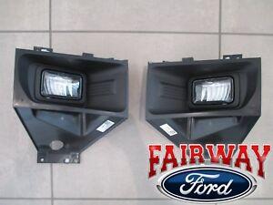 17 thru 19 Super Duty F-250 F-350 OEM Ford Fog Lamps Lights Pair LH & RH - LED