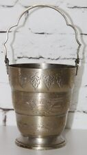 More details for vintage silver plated  posy pot bouquet flower bucket with handle [pl3673]