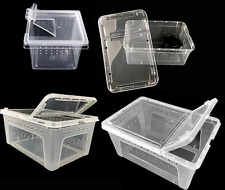 Clear Plastic Isopod & Bug Breeder Box - Small Pet Reptile Enclosure Carrier New