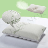 Luxury 2 x Contour Memory Foam Pillow Bamboo Firm Head Neck Support Orthopaedic
