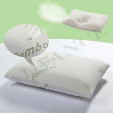Confezione di 4 Cuscino Contour Memory Foam in bambù testa ferma Supporto Collo ORTOPEDICO