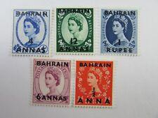 1956 Bahrain  India Postage SC #99-103  QEII   MH stamps