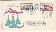 BUSTA FDC SAN MARINO VENETIA 1958 POSTA AEREA TRITTICO  FIRST DAY COVER