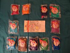 11 1998 McDonald's Ty Beanie Baby's with 1 orig BB Happy Meal bag  missing #3