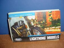 Buell 2004 Lightning Owners Manual with VHS 99474-04Y 6503