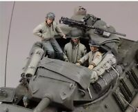 1/35 Resin Figure Model Kit US Soldiers Tank Crew WWII WW2 Unpainted Unassambled