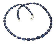 Kyanit-Kette blau - Disthen Halskette mit Silber Kügelchen in 46,5 cm Länge