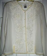 Women's Kathy Che Ivory Color Blouse. Beautiful. New w/tags. Excel Buy!!